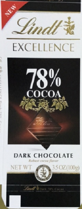 LINDT: Chocolate Bar Excellence 78% Cocoa Dark Chocolate, 3.5 oz