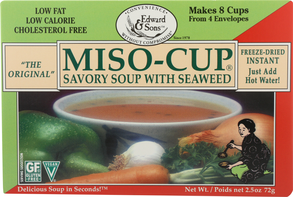 EDWARD & SONS: Miso Cup Mix Instant Seaweed 4, 2.5 oz