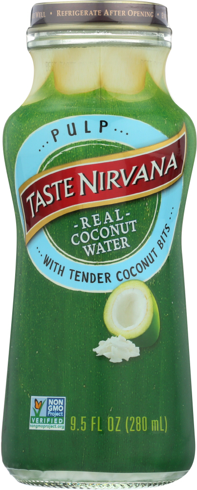 TASTE NIRVANA: Coconut Water with Pulp, 9.5 oz