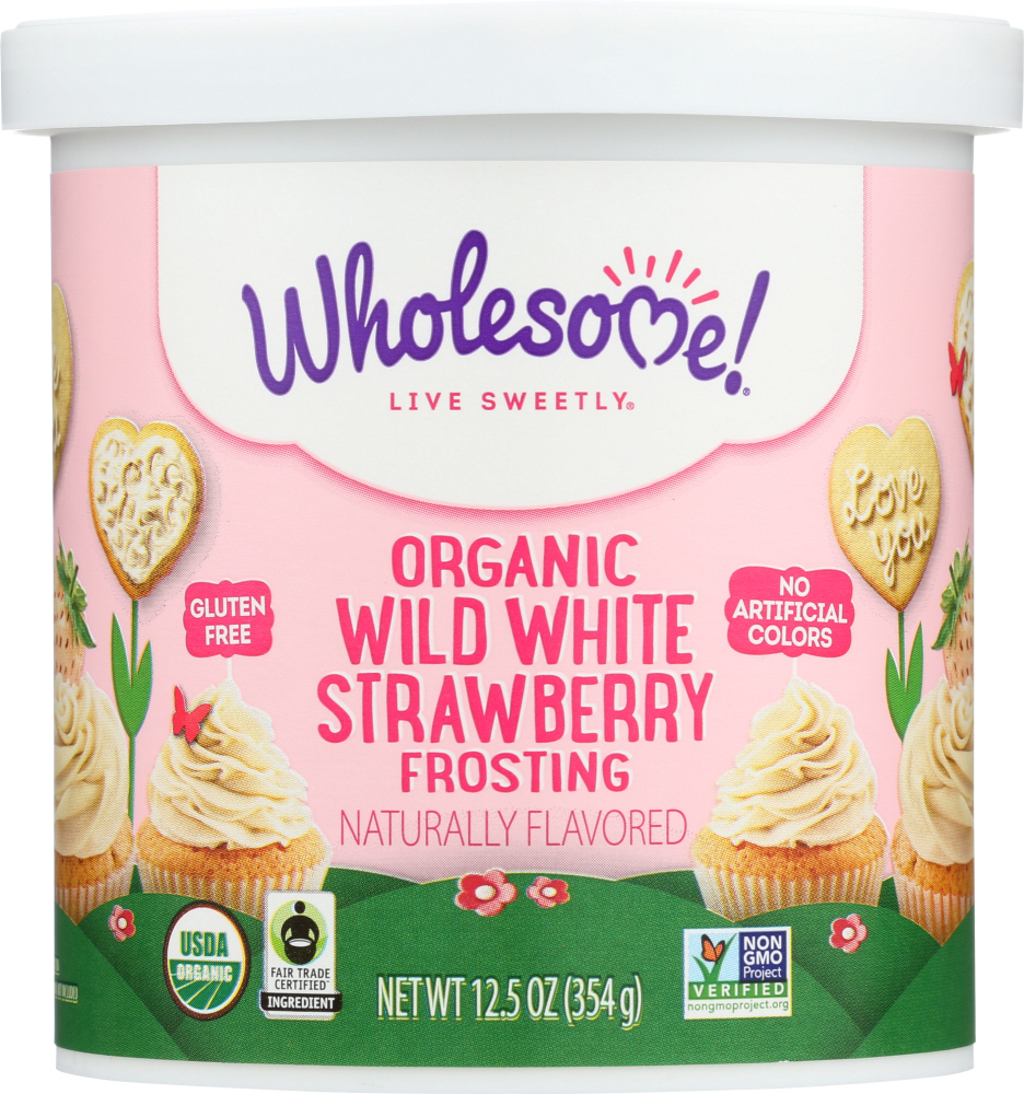 WHOLESOME: Frosting White Strawberry Organic, 12.5 oz