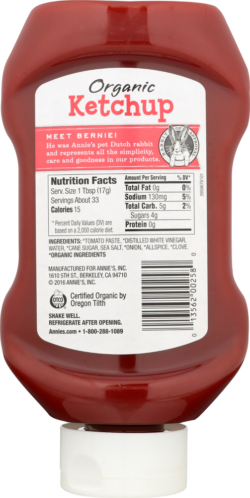 ANNIES HOMEGROWN: Organic Upside Down Ketchup, 20 oz