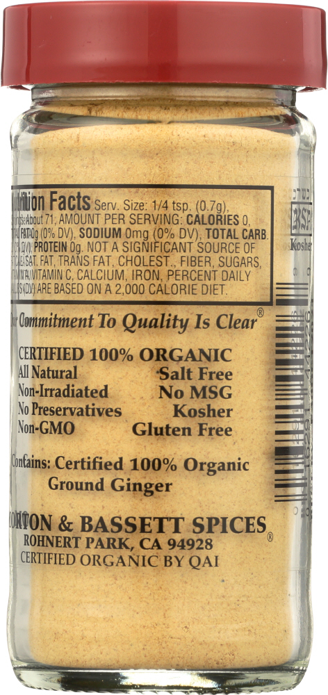 MORTON & BASSETT: Organic Ground Ginger, 1.8 oz