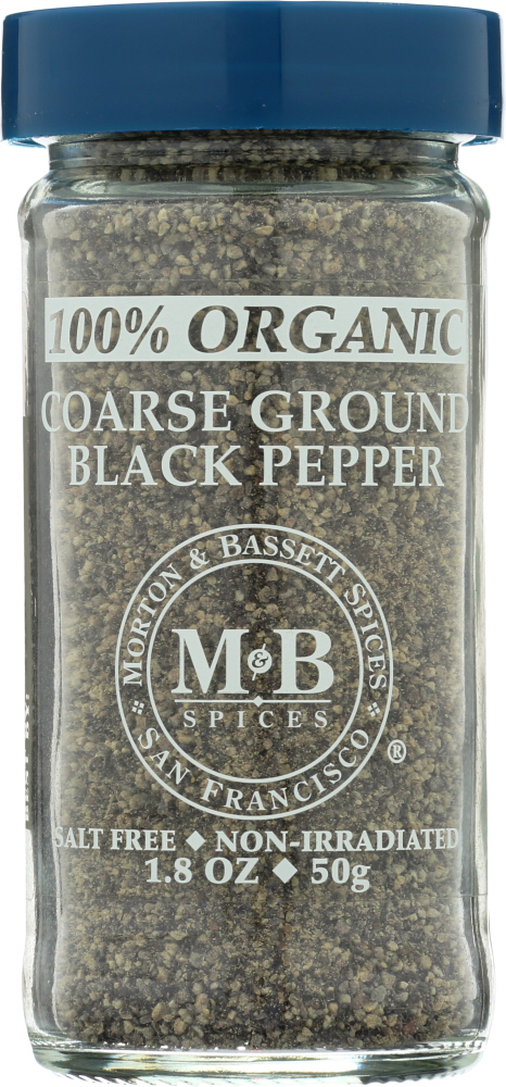 MORTON & BASSETT: Coarse Ground Black Pepper Organic, 1.8 oz