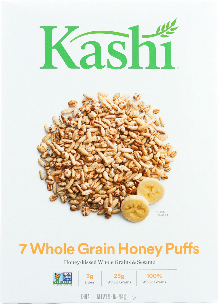 KASHI: Cereal 7 Whole Grain Honey Puffs, 9.3 oz
