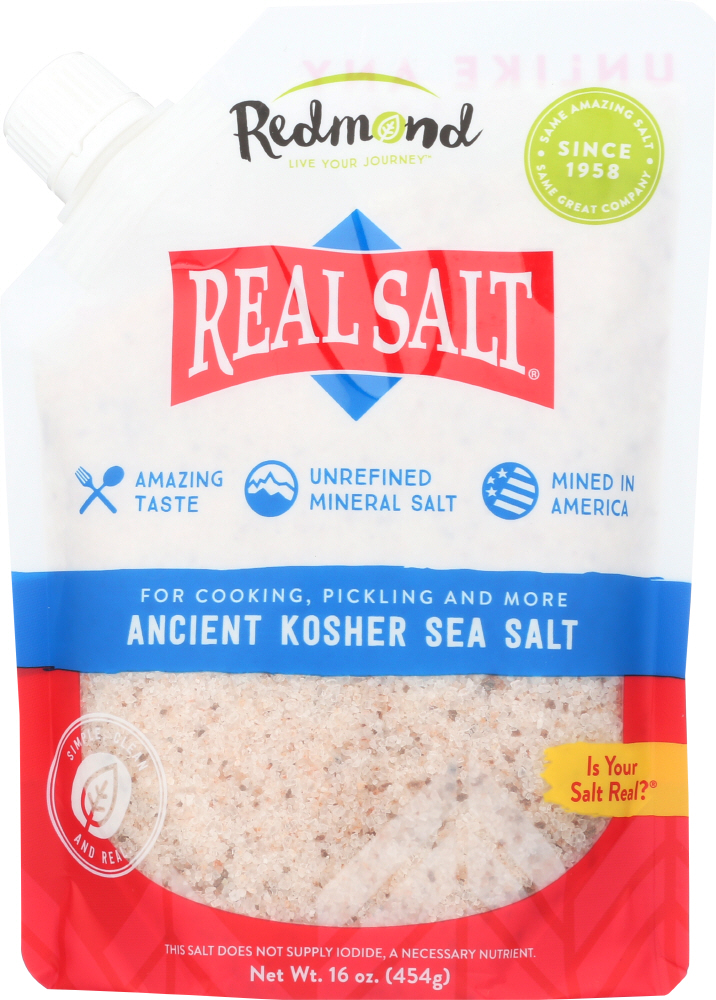 REDMOND: Nature's First Sea Salt Kosher Salt, 16 oz