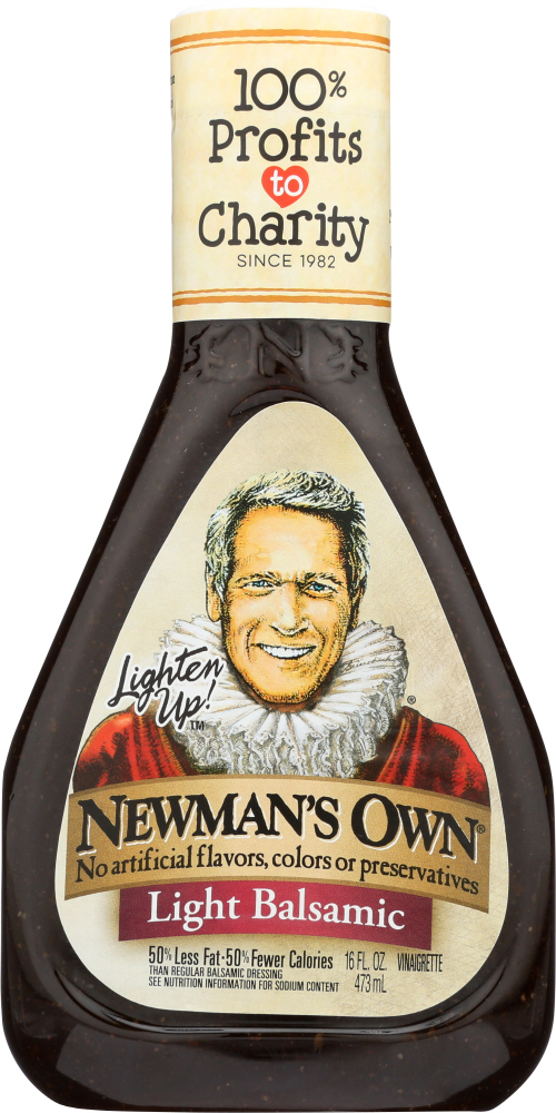 NEWMAN'S OWN: Light Balsamic Vinaigrette, 16 oz