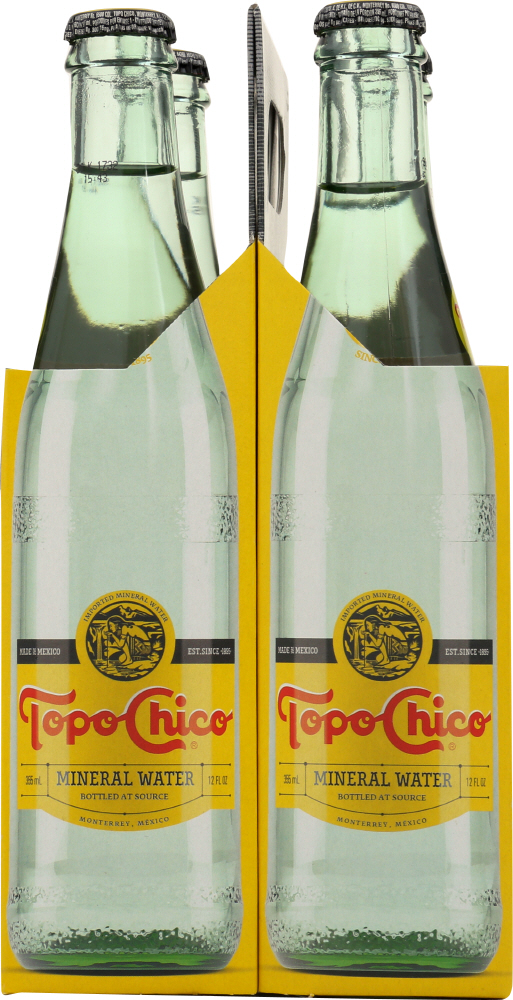 TOPO CHICO: Mineral Water 4 Count (12 Oz Each), 48 oz