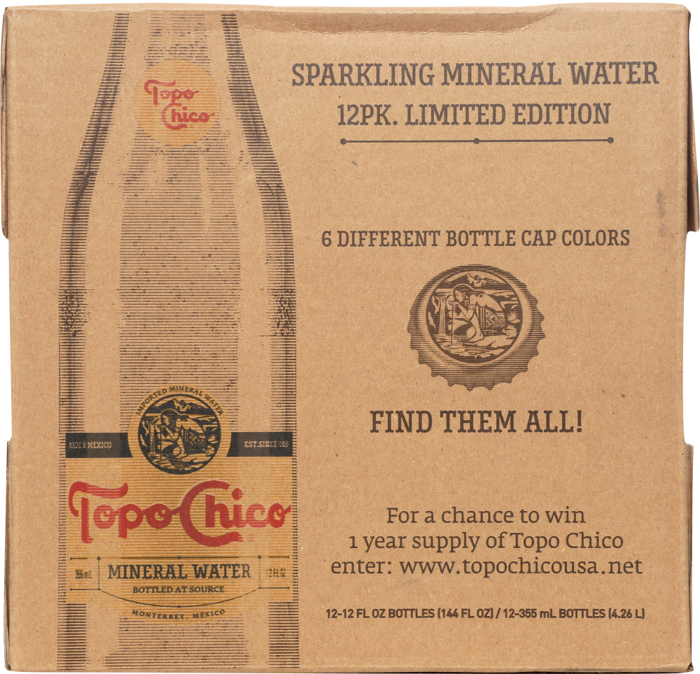 TOPO CHICO: Mineral Water 12 count (12 oz each), 144 oz