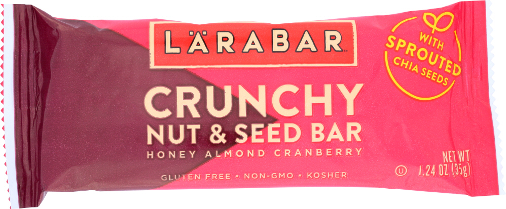 LARABAR: Bar Crunchy Honey Almond Cranberry, 1.24 oz
