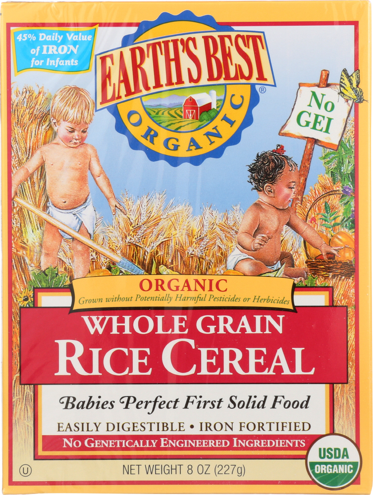 EARTH'S BEST: Organic Whole Grain Rice Cereal, 8 oz