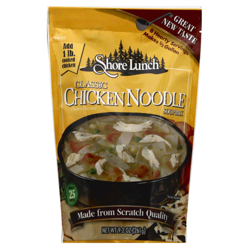 SHORE LUNCH: Mix Soup Chicken Noodle Classic, 9.2 oz