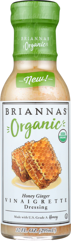 BRIANNAS: Dressing Honey Ginger Vinaigrette, 10 oz
