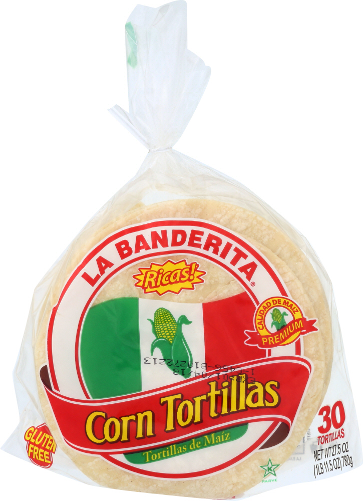 LA BANDERITA: Tortila Corn 30 ct, 27.5 oz