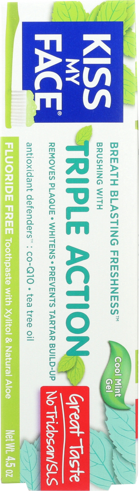 KISS MY FACE: Triple Action Gel Toothpaste, 4.5 oz