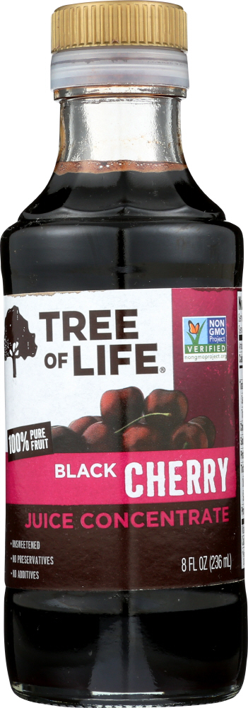 TREE OF LIFE: Juice Concentrate Unsweetened Black Cherry, 8 Oz
