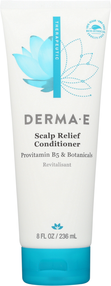 DERMA E: Scalp Relief Conditioner with Therapeutic Psorzema Herbal Blend, 8 oz