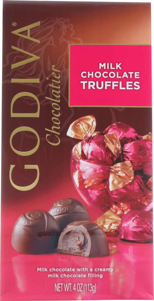 GODIVA: Chocolate Gem Truffle Milk, 4 oz