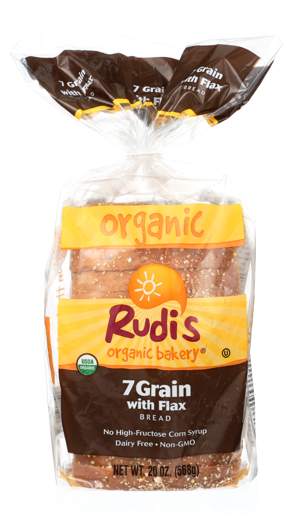 RUDIS: Organic 7 Grain with Flax Bread, 20 oz