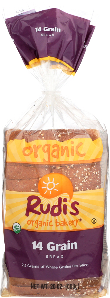 RUDIS: Organic Bakery Organic 14 Whole Grain Bread, 20 oz