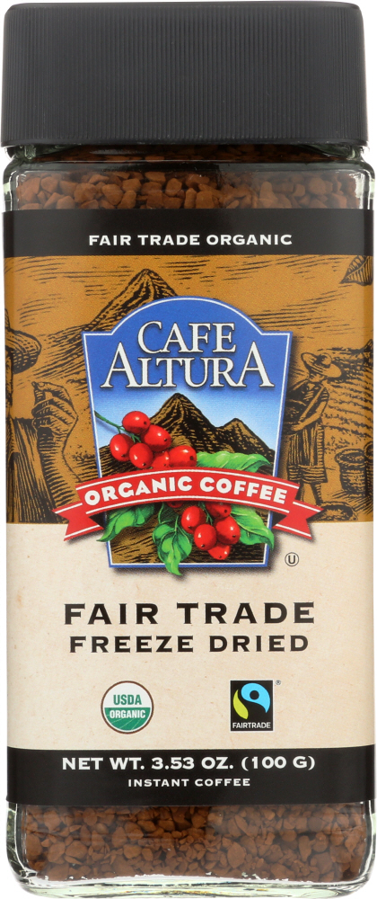 CAFE ALTURA: Organic Freeze Dried Instant Coffee, 3.5 oz