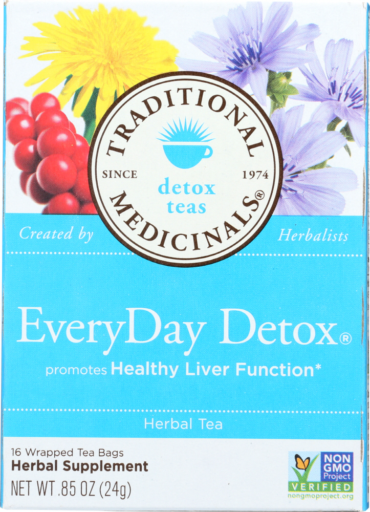 TRADITIONAL MEDICINALS: Everyday Detox Herbal Tea 16 tea bags, 0.85 oz