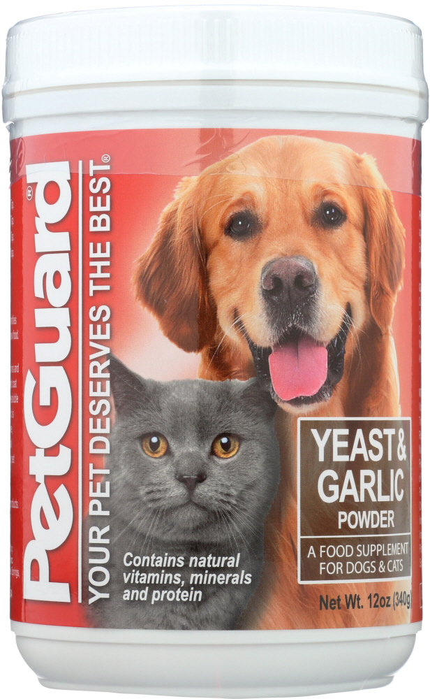 PETGUARD: Yeast and Garlic Powder for Dogs & Cats, 12 oz
