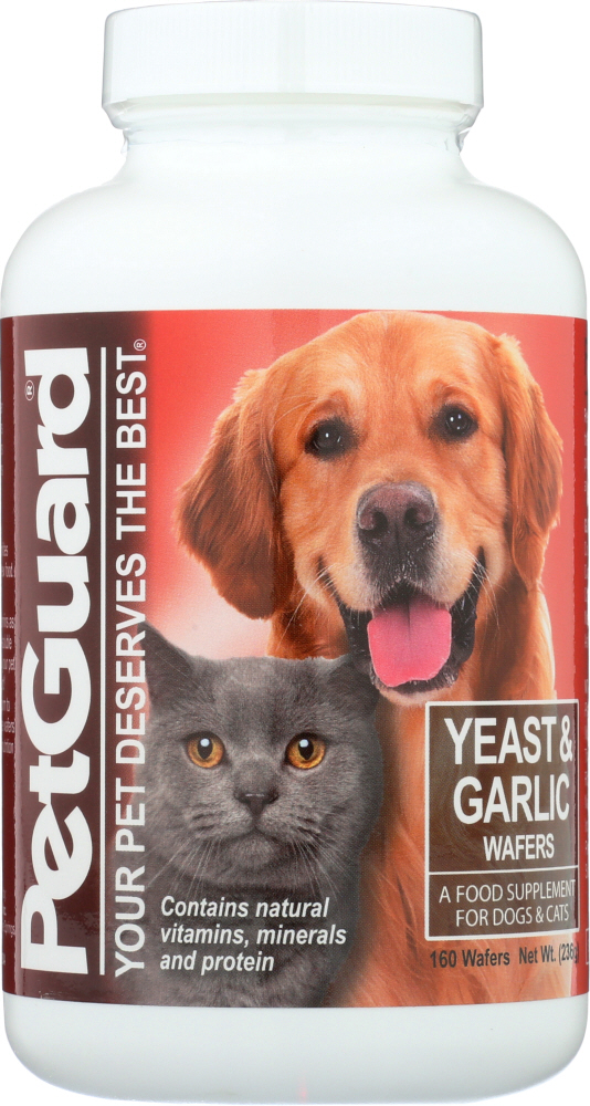 PETGUARD: Yeast and Garlic Wafers for Dogs & Cats, 160 Pc