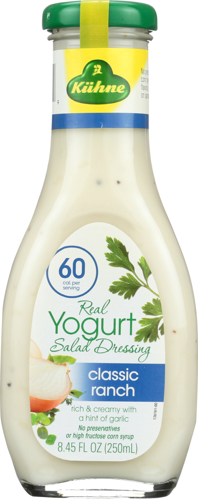 KUHNE: Yoghurt and Ranch Dressing, 8.45 oz