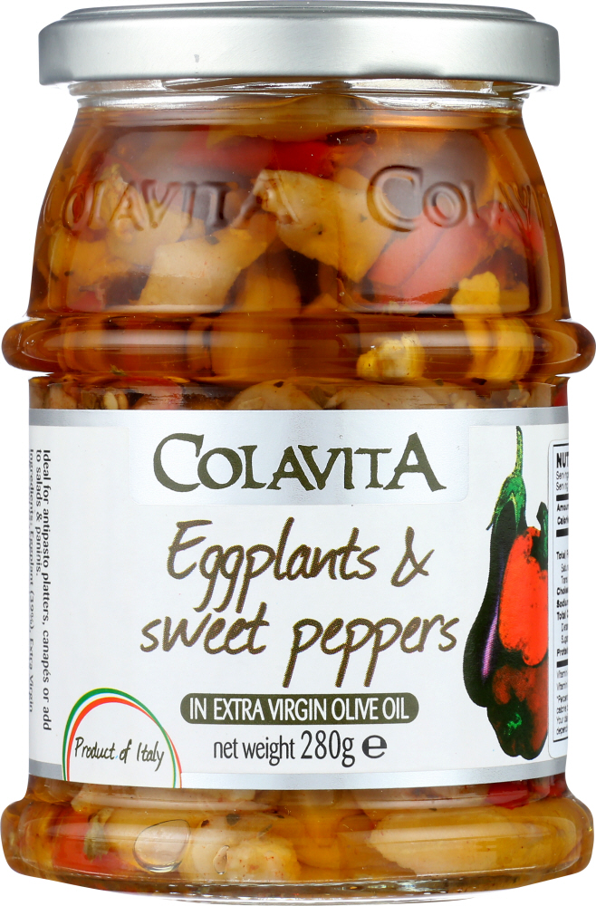 COLAVITA: Eggplant And Sweet Peppers In Extra Virgin Olive Oil, 9.87 oz