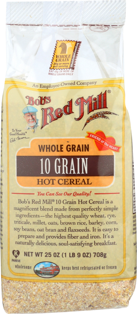 BOBS RED MILL: Whole Grain 10 Grain Hot Cereal, 25 oz