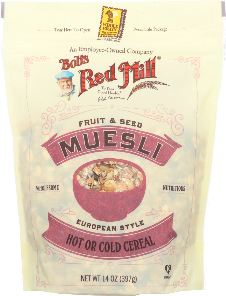BOBS RED MILL: Fruit and Seed Muesli Cereal, 14 oz