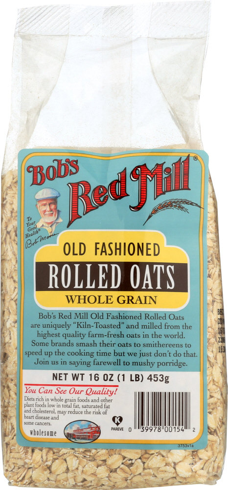 BOBS RED MILL: Regular Rolled Oats, 16 oz