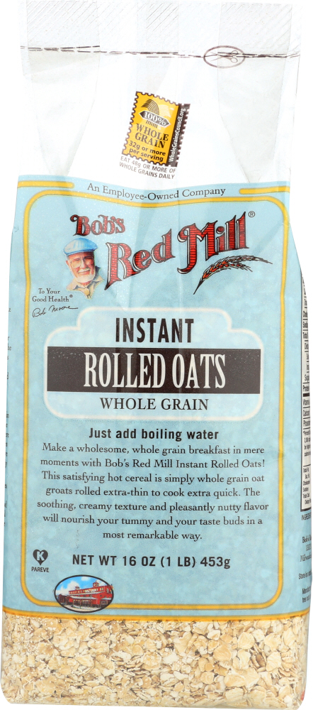 BOBS RED MILL: Cereal Rolled Oats Instant, 16 oz