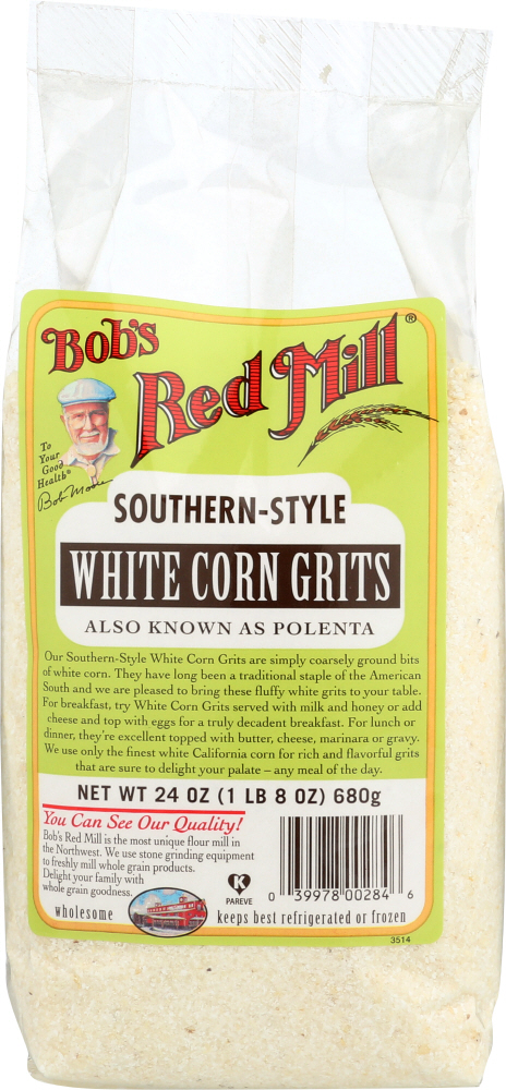 BOBS RED MILL: Southern-Style White Corn Grits, 24 Oz