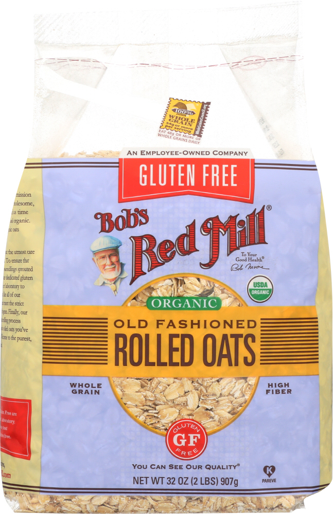 BOBS RED MILL: Organic Old Fashioned Rolled Oats Gluten Free, 32 oz