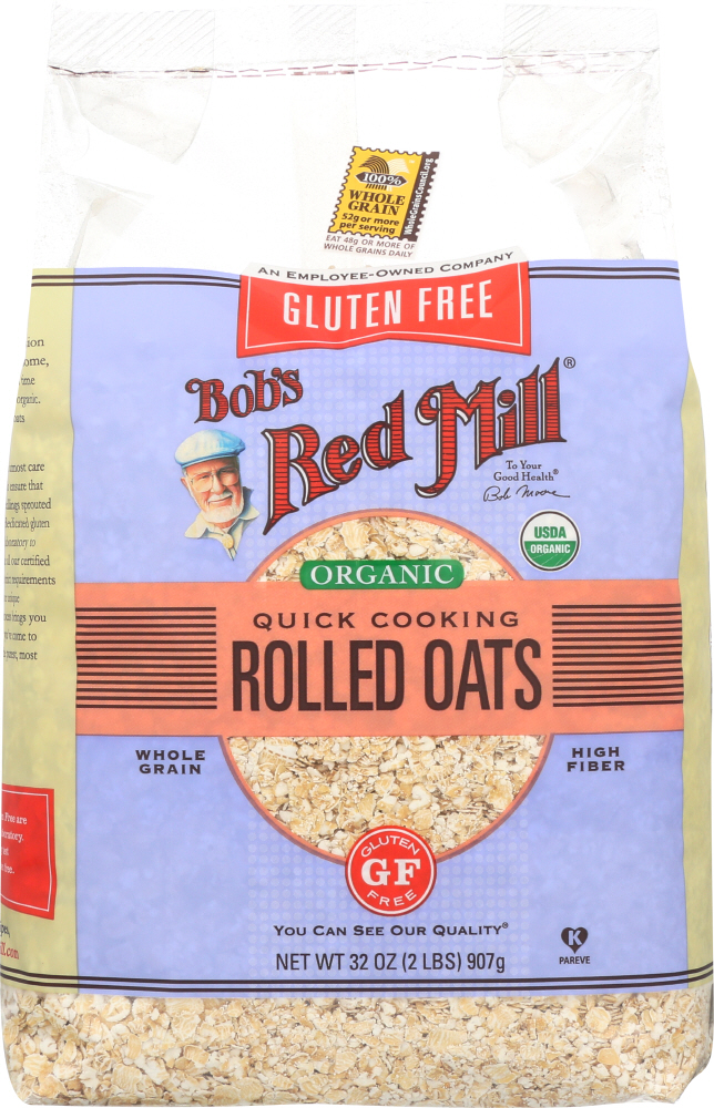 BOBS RED MILL: Gluten Free Organic Quick Cooking Rolled Oats, 32 oz