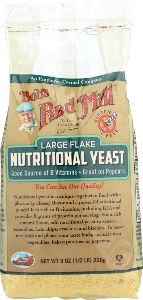 BOBS RED MILL: Nutritional Yeast Large Flake, 8 oz