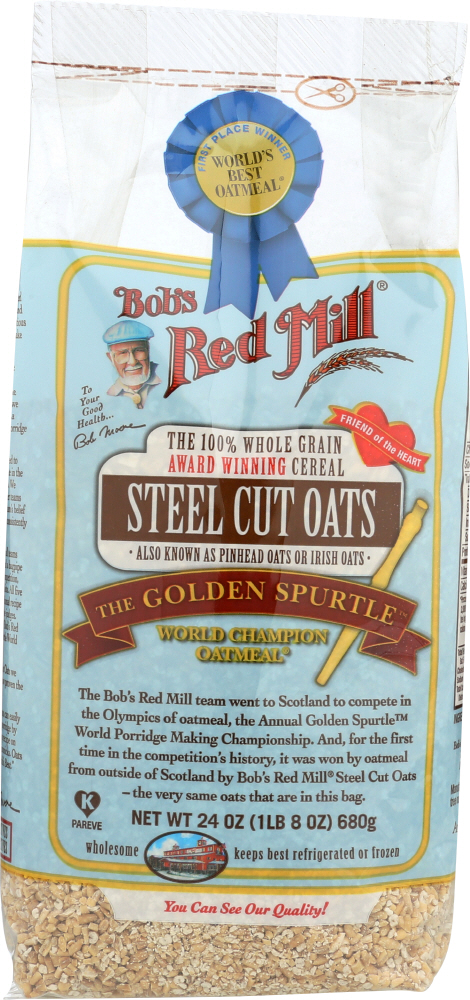 BOB'S RED MILL: Steel Cut Oats Cereal, 24 oz