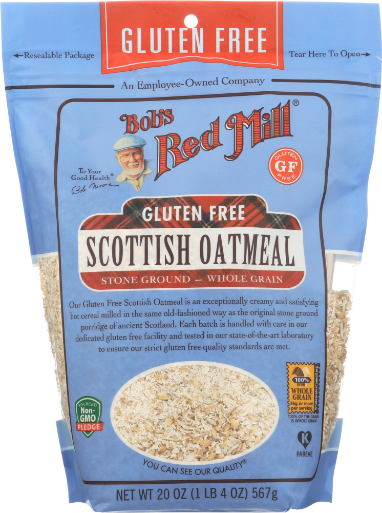 BOBS RED MILL: Gluten Free Scottish Oatmeal, 20 oz