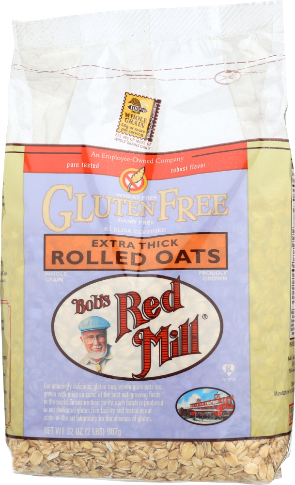 BOBS RED MILL: Gluten Free Extra Thick Rolled Oats, 32 Oz