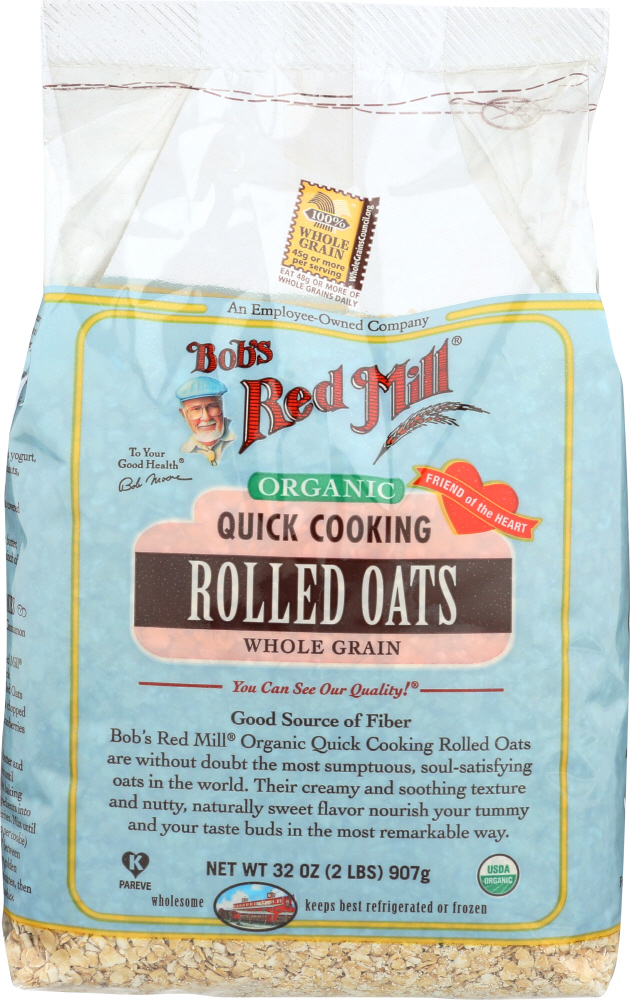BOBS RED MILL: Organic Quick Cooking Rolled Oats, 32 oz