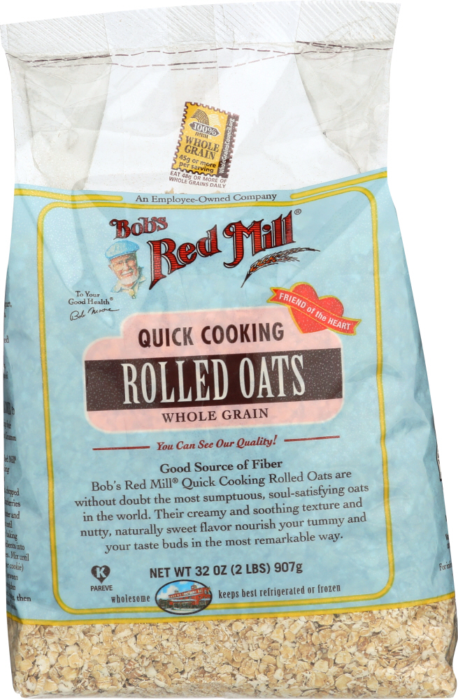 BOBS RED MILL: Quick Cooking Rolled Oats, 32 oz