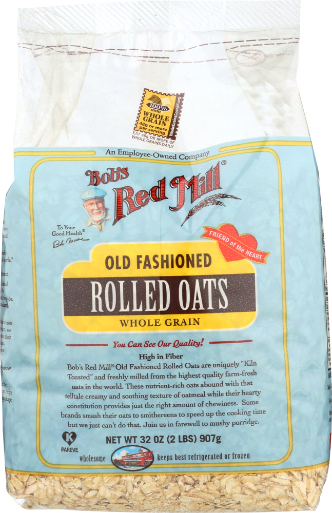 BOB'S RED MILL: Old Fashioned Rolled Oats Whole Grain, 32 Oz