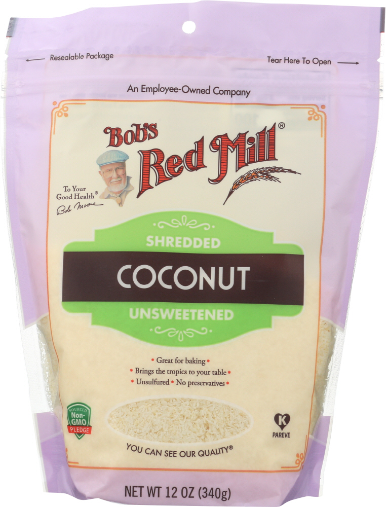 BOBS RED MILL: Shredded Coconut, 12 oz