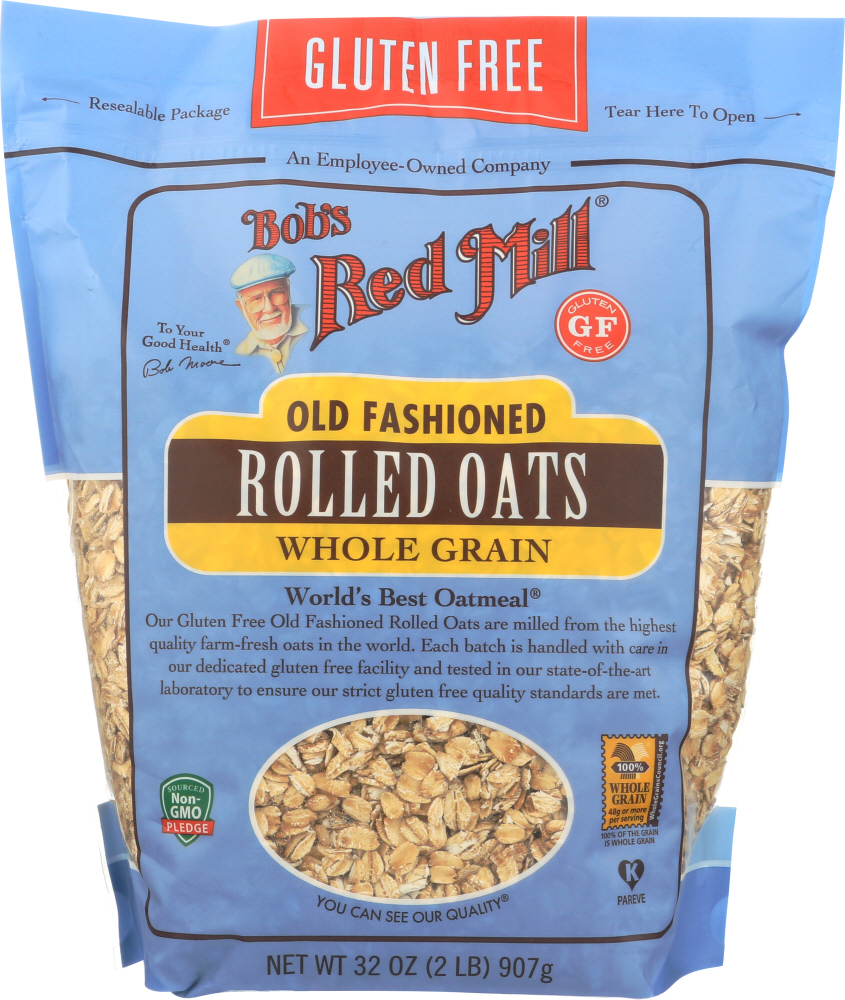 BOBS RED MILL: Gluten Free Organic Old Fashioned Rolled Oats, 32 oz
