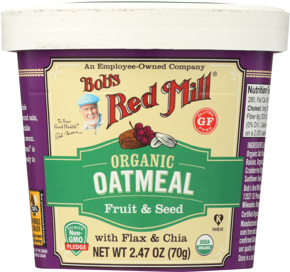BOBS RED MILL: Organic Oatmeal Fruit & Seed, 2.47 oz