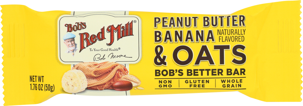 BOBS RED MILL: Peanut Butter Banana & Oats Bob's Better Bar, 1.76 oz