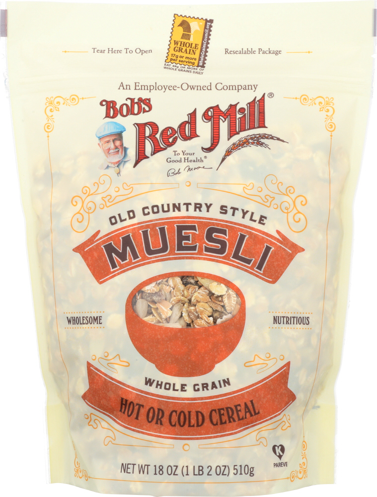 BOBS RED MILL:  Old Country Style Muesli Whole Grain Cereal, 18 oz