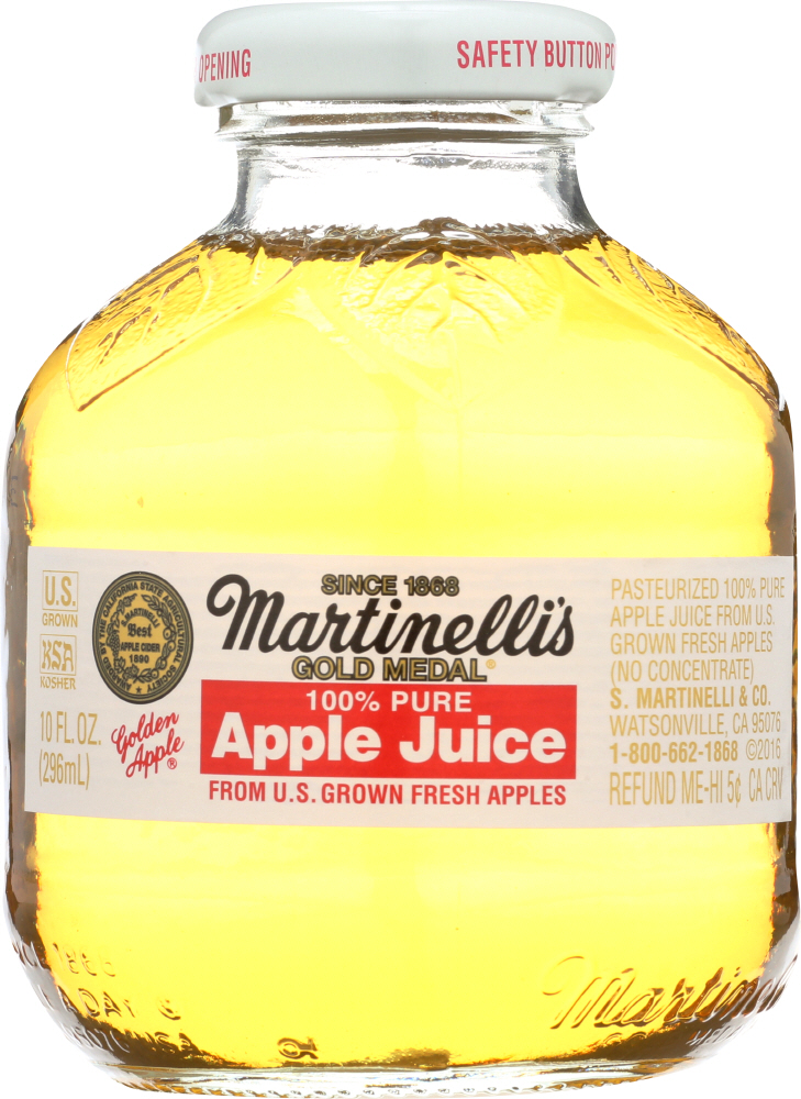 MARTINELLI'S: Gold Medal 100% Apple Juice, 10 oz