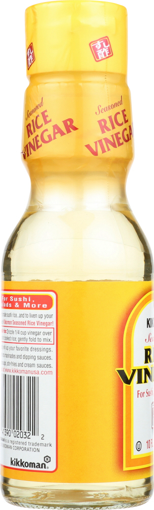 KIKKOMAN: Seasoned Rice Vinegar, 10 oz